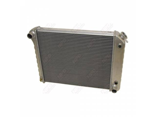 RADIATOR, Cross Flow, 2 Row, aluminum version of