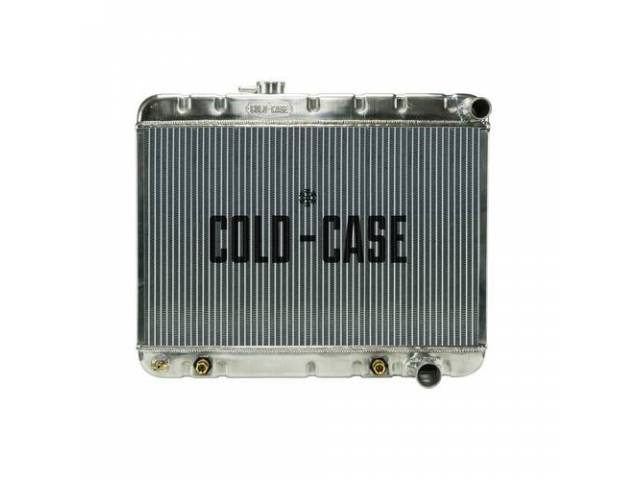 Radiator Down Flow Aluminum 2 Row Cold Case