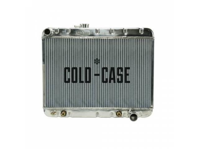 Radiator Down Flow Aluminum 2 Row Cold Case