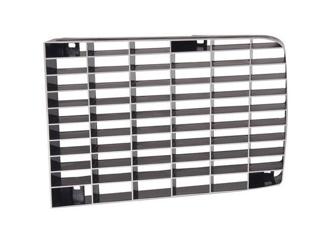 Grille Radiator Black Finish Rh Repro
