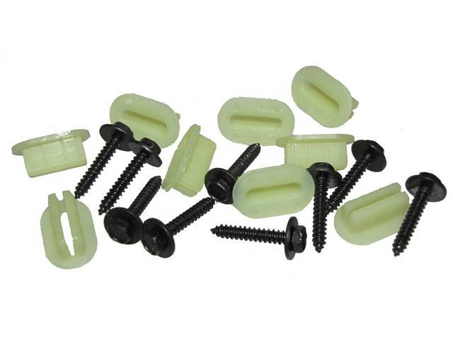 FASTENER KIT, Grille, (18) Incl Flat SEMS and