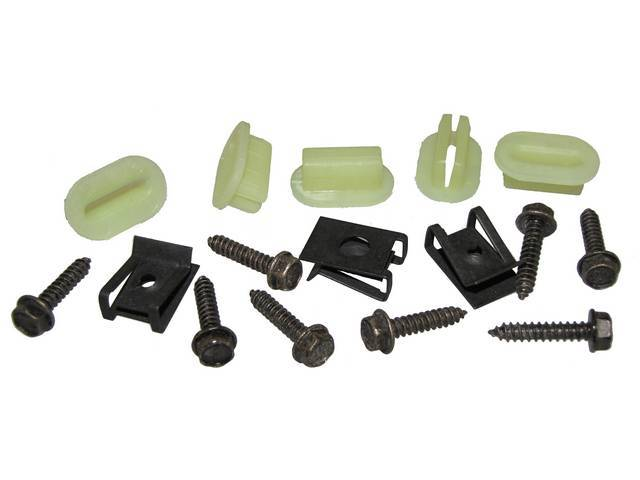 FASTENER KIT, Grille, (16) Incl HXWA Screws, Spring