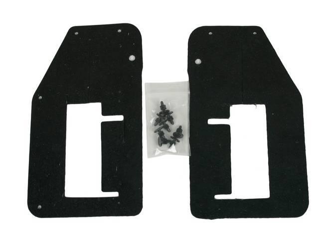 SEAL SET, Radiator Baffle to Frame Bar, seals area where frame rail passes through radiator core support, repro