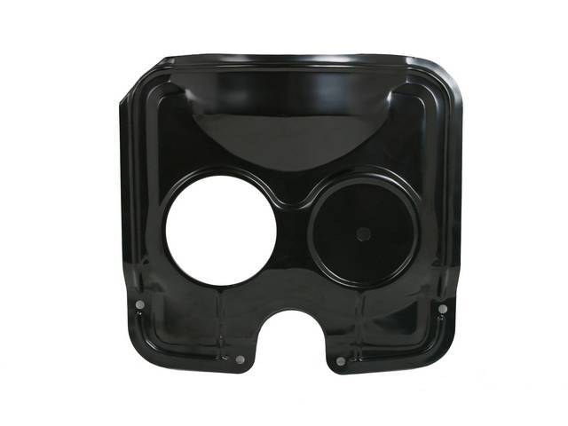 GUARD / SHIELD, Radiator Fan, Top, RH radiator cap opening, used in place of a full fan shroud, black painted finish, repro
