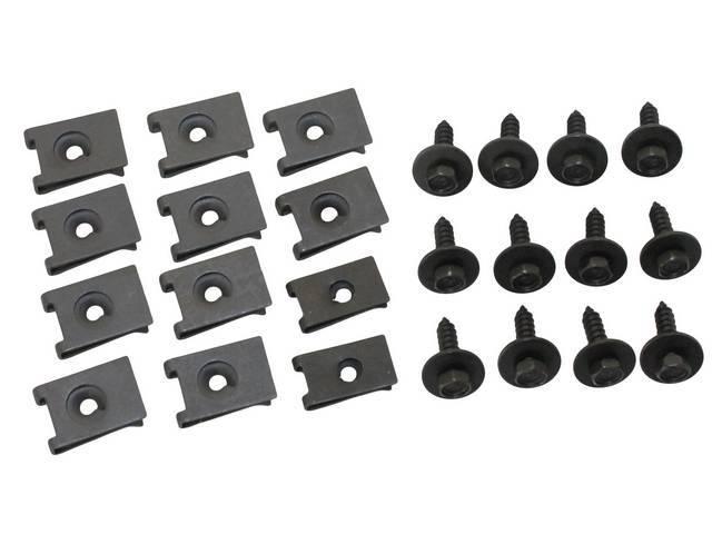 Fastener Kit Bumper Front Filler Panels 24 Hex