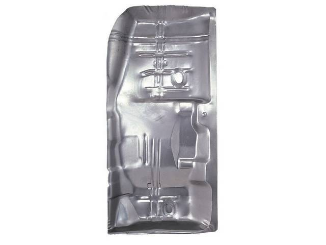 FLOOR PAN, Full Length, RH, 58 1/2 inch length x 28 1/2 inch width, does not incl toe pan or under rear seat pan, US-Made Repro