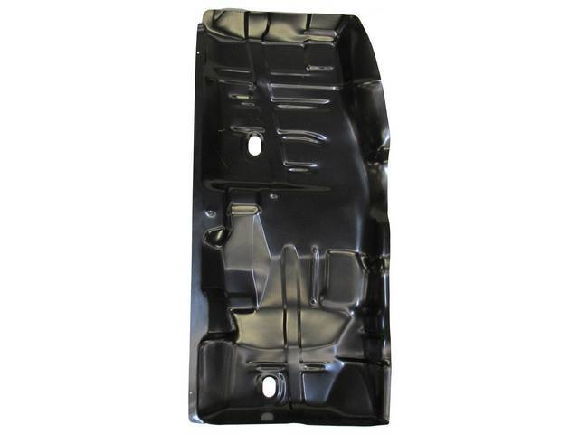 FLOOR PAN, Full Length, LH, 58 inch length x 28 1/2 inch width, does not incl toe pan or under rear seat pan, Imported Repro