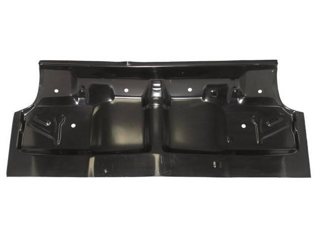 FLOOR PAN, UNDER REAR SEAT, Full Length (Covers