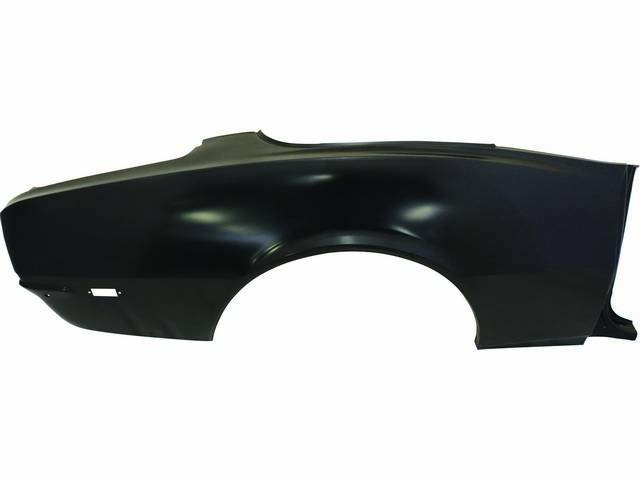 QUARTER PANEL, Factory Type, RH, offers complete OE coverage incl door jamb and trunk weatherstrip drop sections, replaces GM p/n 7741301, repro