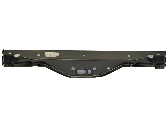 BRACE, Rear Compartment / Trunk Floor Pan, Over Axle / Front Crossmember, mounts on trunk pan underside at the front of the axle hump, Repro