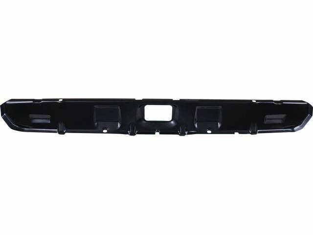 RAIL, Rear Compartment / Trunk End Crossmember / Inner Valance, this part supports the rear outer body panel and mates directly behind it, Import repro