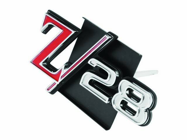 EMBLEM, Grille, *Z/28*, Incl attaching hardware, US-made OE