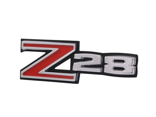 EMBLEM, Grille, *Z/28*, incl retaining plate and attaching
