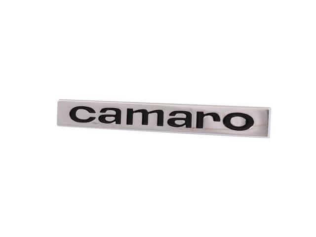 Emblem Header Panel / Deck Lid Camaro Replaces