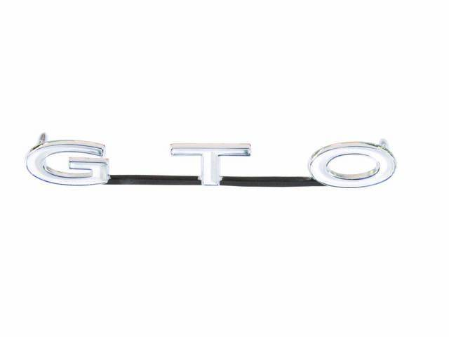 PLATE / EMBLEM, Grille, *G.T.O.*, Repro