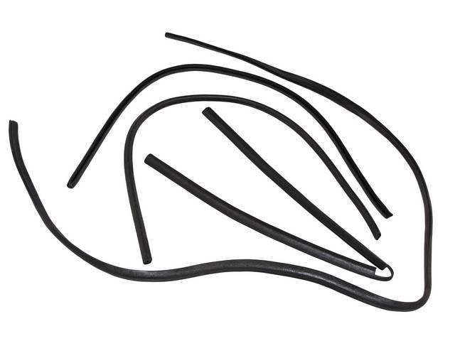 Molding Kit Headliner And Window Trim Black 4