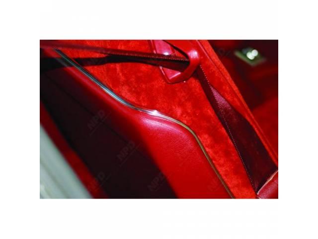 MYLAR CHROME TRIM, Bucket Seat Back, chrome trim