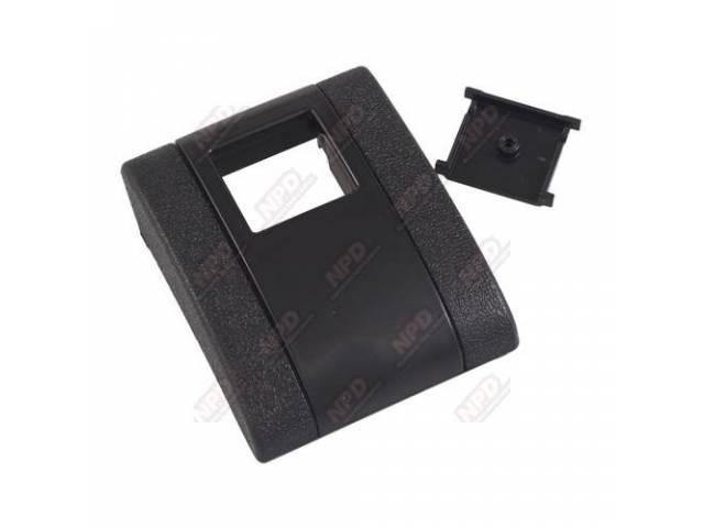 Cover Seat Belt Buckle Black Incls Button Plastic