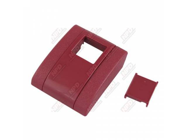 Cover Seat Belt Buckle Red Incls Button Plastic