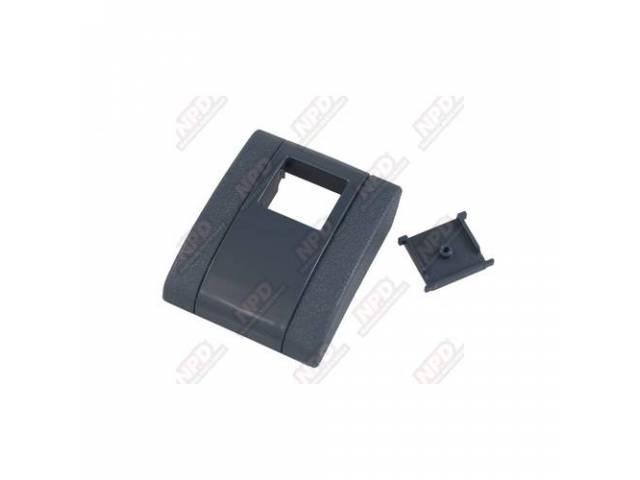 Cover Seat Belt Buckle Blue Incls Button Plastic
