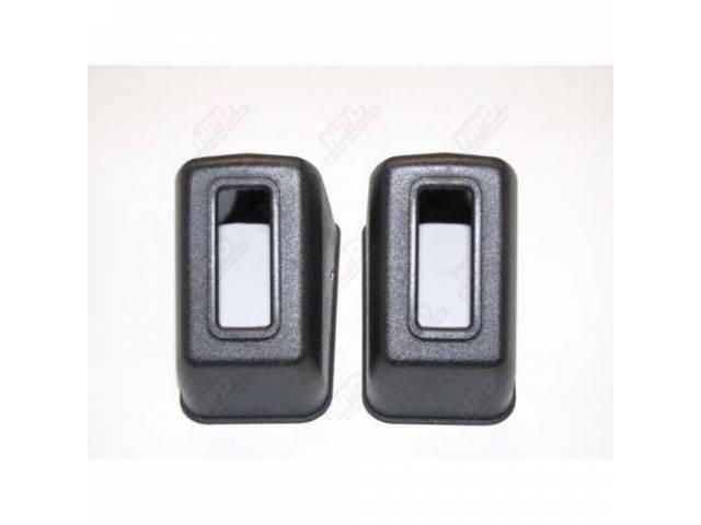 Cover Seat Belt Retractor Black Repro