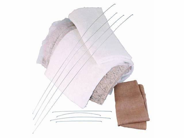 INSTALLATION KIT, Rear Seat, incl 30 inch x 120 inch section of cotton batting, 30 inch x 120 inch section of 1 1/4 inch thick dacron padding, 4 yards of burlap and 4 yards of wire, repro