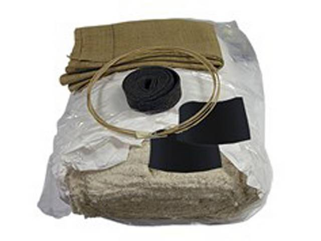 INSTALLATION KIT, Front Bucket Seats, incl 5 lb roll of cotton, 2 yards of burlap, 6 yards of paper coated listing wire, 3 yards of 2 inch wide felt, and a dust mask, does two seats, repro