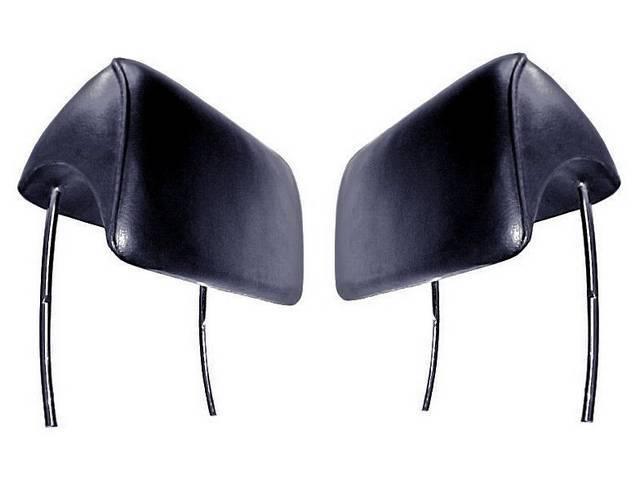 HEAD RESTRAINT / HEAD REST ASSY, Front Bucket Seat, Black, Repro