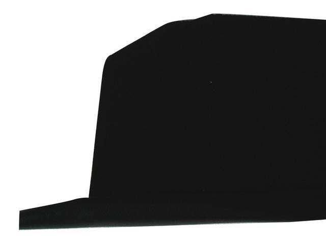 TRAY / TRIM, Package / Rear Shelf, Std (plain) w/o holes, 1st Design, black, PUI, incl foam strip and black vinyl strip at the front