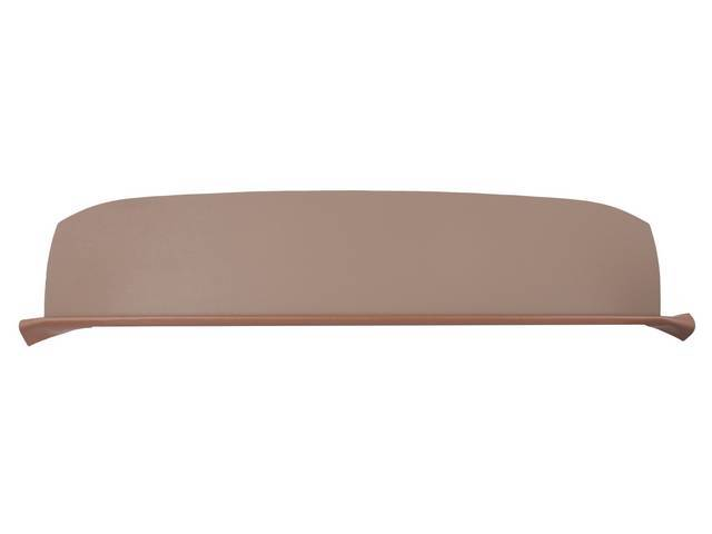 TRAY / TRIM, Package / Rear Shelf, Std (plain) w/o holes, saddle, PUI, incl foam strip and saddle vinyl strip at the front