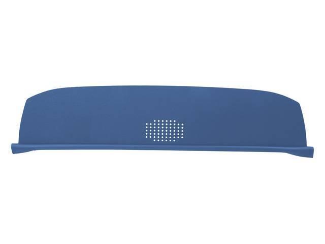 Package Tray / Rear Shelf, Mesh, Medium Blue, 1 speaker design (center)
