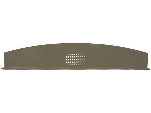 Package Tray / Rear Shelf, Mesh, Mesh, Gold, 1 speaker design (center)