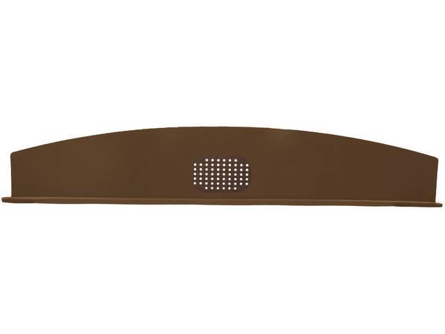 Package Tray / Rear Shelf, Mesh, Brown, 1 speaker design (center)