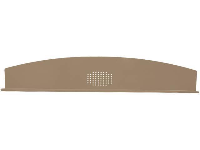 Package Tray / Rear Shelf, Mesh, Tan, 1 speaker design (center)