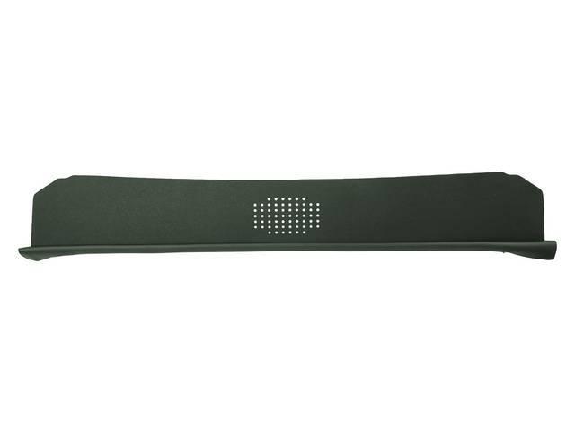 Package Tray / Rear Shelf, Mesh, Green, 1 speaker design (center)