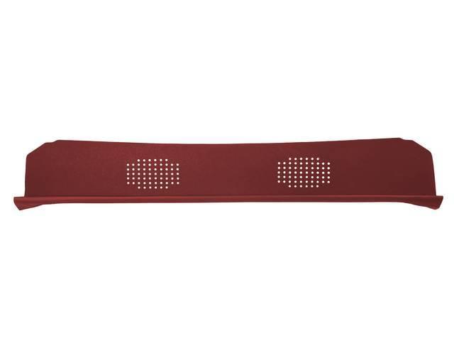 Package Tray / Rear Shelf, Mesh, Medium Red, 2 speaker design