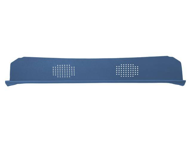 Package Tray / Rear Shelf, Mesh, Medium Blue, 2 speaker design
