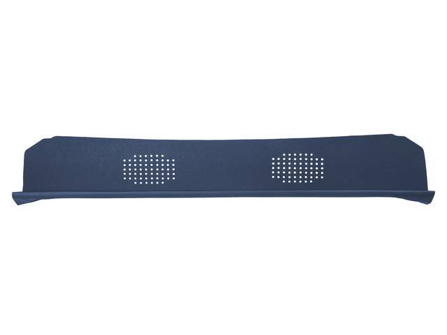 Package Tray / Rear Shelf, Mesh, Dark Blue, 2 speaker design
