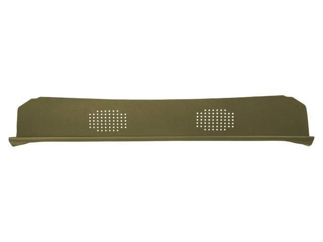 Package Tray / Rear Shelf, Mesh, Gold, 2 speaker design