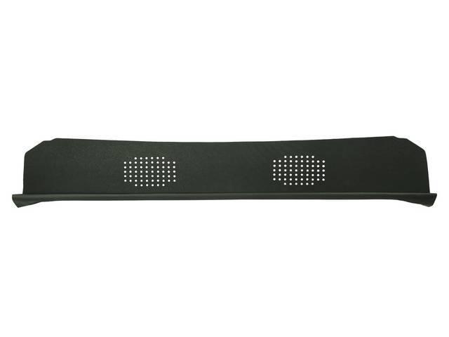 Package Tray / Rear Shelf, Mesh, Green, 2 speaker design