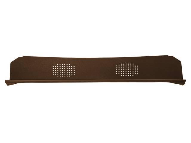 Package Tray / Rear Shelf, Mesh, Brown, 2 speaker design