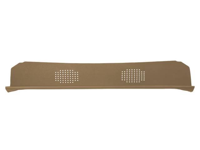 Package Tray / Rear Shelf, Mesh, Tan, 2 speaker design