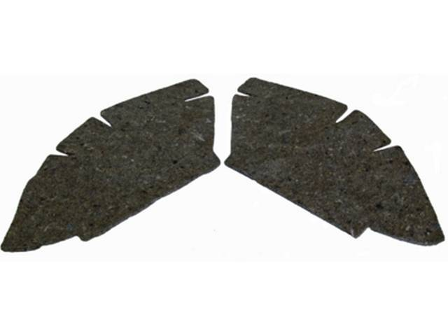 Rear Lower Quarter Panel Insulation (felt), pair