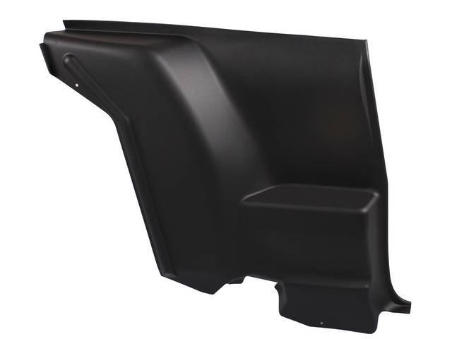 QUARTER TRIM, Inner Lower, Black (paint to match),