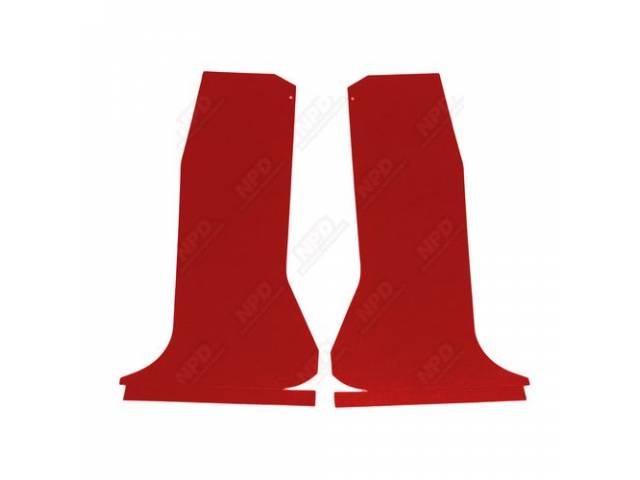 Quarter Trim Set Red Die-Cut Boards That Curve