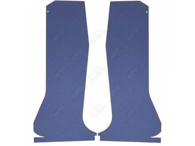 Quarter Trim Set Medium Blue Die-Cut Boards That