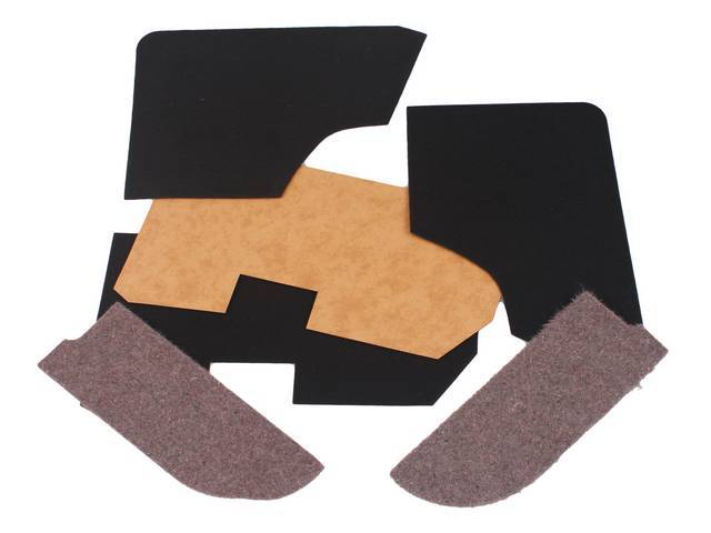 INSTALL KIT, Arm / Well Cover, Rear, Convertible, (6) incl two 20 Ounce Boards W/ 5 Ounce Felt, two 5 Ounce Felts and two 20 Ounce Felts