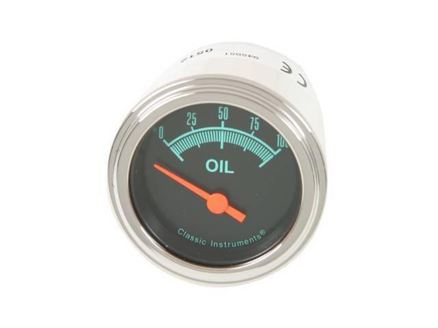 Gauge Oil Pressure Classic Instruments G-Stock Series Gauge