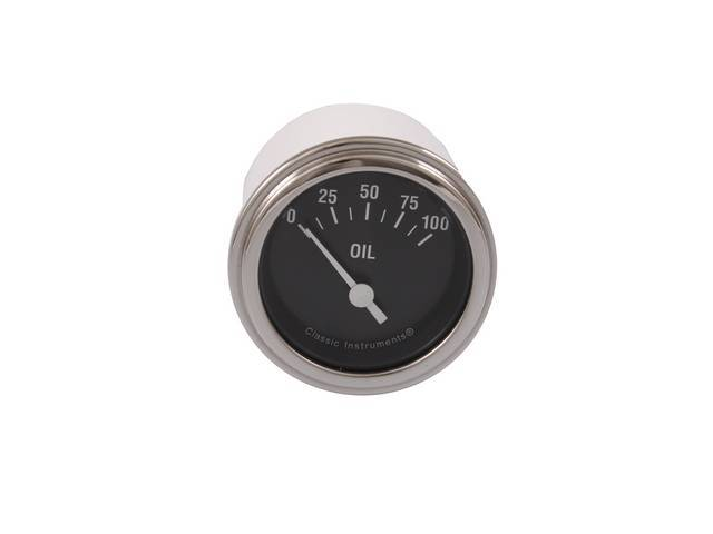 Gauge Oil Pressure Classic Instruments Hot Rod Series
