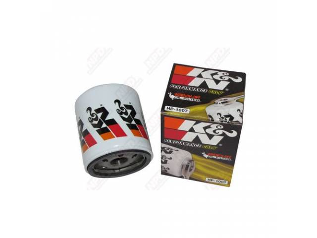 Filter, Oil, K And N Performance, High Flow, Features A 1 Inch Nut On The Bottom For Easy Removal (No Special Oil Filter Tools Needed)